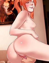 Anime chicks playing with big dicks - part 10