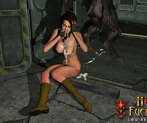 Deliciously sexy beauty with big bum swallow warm jizz of hell fuckers - part 3