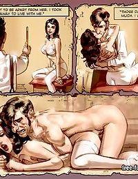 Wild orgy with brunette girl