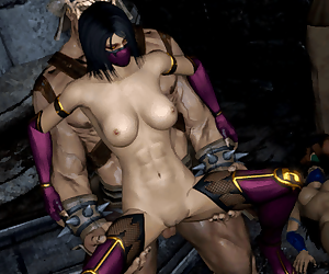 Mortal Kombat- Mileena- Jade and Kitana