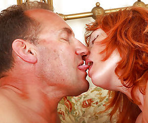 Mature first timer Liddy facesitting husband for pussy licking