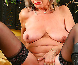 Cute 50 year old grandma gets nude and fingers herself - part 2430