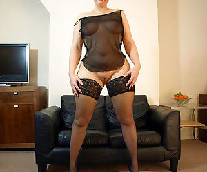 Daniella english showing her big butt in sexy black nightie and - part 1088
