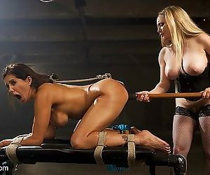 Francesca le busty is rope bound and strapon fucked by lezdom ai - part 1941