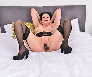Naughty british housewife is getting ready for bed - part 2075