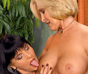 Hot older women feel the urge to try lesbian sex for the first time - part 856