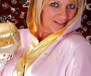 Mature mom sherri donovan loses satin lingerie to bare big tits & spread legs - part 1291