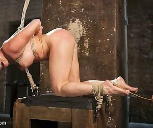 Nikki delano in rope bondage is spanked and strapon fucked by le - part 2963