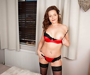 Hot british mom gemma gold fingering and toying in sexy lingerie - part 2899