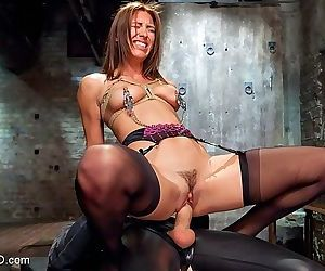 Rilynn rae in rope bondage with bdsm sex toys is fucked in her p - part 2565
