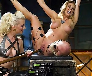 Cherie deville is bound and electro straponed by latex lezdom ch - part 2138