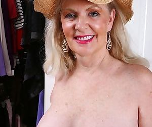 Busty older babe judy belkins spreads pussy in closet - part 551