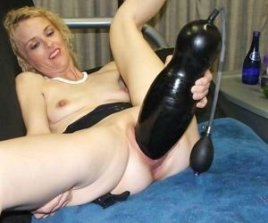 Kinky mature toying huge dildo - part 534
