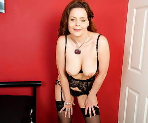 Naughty british milf gemma gold playing with her pussy in black - part 2898