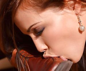 Submissive Euro slut Satin Bloom submits to masters BDSM fantasies - part 2