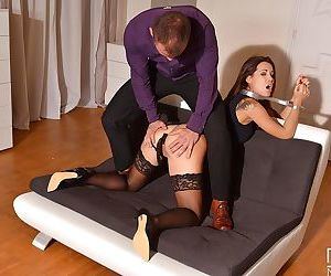 Submissive Euro slut Satin Bloom submits to masters BDSM fantasies