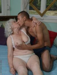 Queasy pussy be worthwhile for loved granny Norma gets nailed hardcore far a young flannel - fixing 2