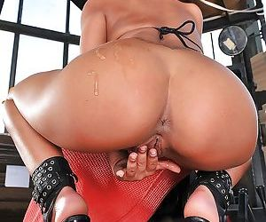 Oiled babe Destiny showing big delicious butt and amazing boobies - part 2