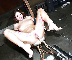 MILF babe with small tits Cathy Heaven in a fetish gangbang - part 2