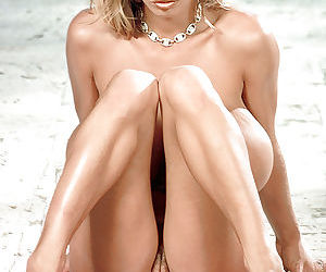 Blonde pornstar Tiffany Towers fondling big juggs and licking own nipples - part 2
