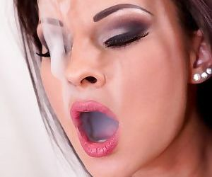 Brunette chicks Amirah and Abbie Cat toy anus and bad cunts in BDSM scene - part 2