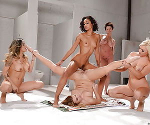 Nadia Styles, Natalia Starr and Skin Diamond having a lesbian threesome
