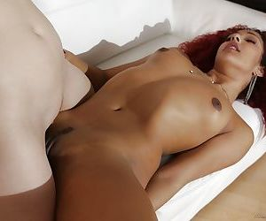 Real life interracial lesbos Aria Alexander and Daisy Ducati licking pussy - part 2