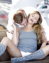 Hardcore sex scene featuring a girl Mia Malkova kissing her man