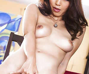 Marica Hase fingering her asian pussy and tasting her love juices - part 2