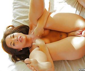 Slender tattooed Asian girlfriend Morgan Lee fucks in doggy pose