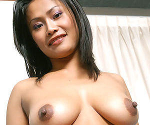 Asian first timer Apple loosing nice melons from sexy lingerie - part 2