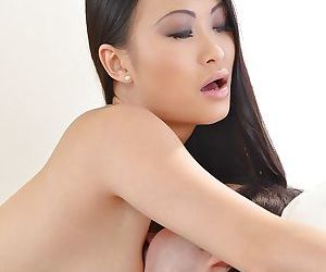Young Asian hottie PussyKat taking older mans dick in tight asshole - part 2