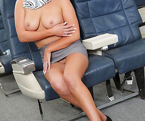 Gorgeous asian air hostess stripping down and teasing her gash - part 2