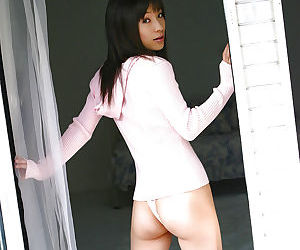 Graceful asian pet in sport appliance invention the brush seductive curves - part 2