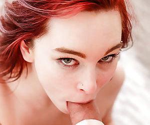 Ravishing redhead schoolgirl Trinity May sucking her teachers big cock - part 2