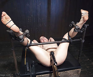 Kinky chick Ingrid Mouth taking painful vagina torture in bondage - part 2