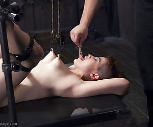 Kinky chick Ingrid Mouth taking painful vagina torture in bondage