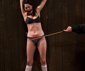 Adolescent chicito Lori Stupendous having her schoolgirl snatch whipped - part 2