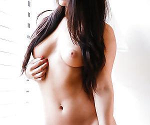 Beautiful Asian amateur Eva Lovia revealing tight ass in knee high boots - part 2