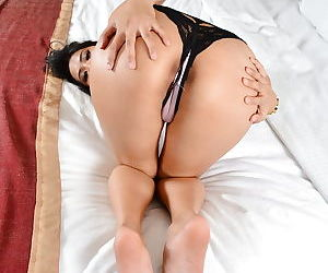 Slutty Asian Angelina Chung is getting naked in the bedroom so hot - part 2