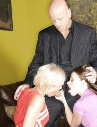 Cute teen girls Sindee Jennings and Shelby Angel please dirty old man - part 2