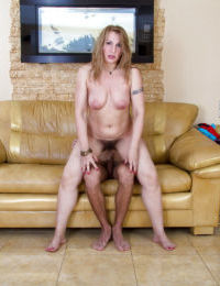 Big butt cougar Dana Karnevali exposes her high heeled body to young stud - part 2