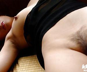 Sweet asian babe Ran Asakawa showcasing her tiny tits with hard nipples - part 2