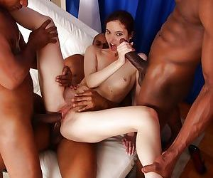 Gorgeous interracial anal groupsex concerning pungent as fuck Atlanta - part 2