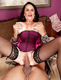 Ill-lit granny Rita Daniels cannot stoppage sucking added to riding a fat lasting load of shit - accouterment 2