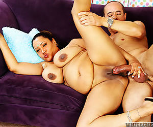 Obese Indian woman Kira B pleasuring a cock with her talented wares - part 2