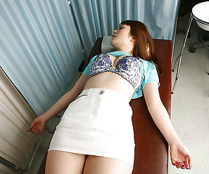 Prex asian infant Rika Kijma gets unembellished increased by gets her pussy examed