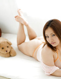 Charming Japanese infant hotty Rika Aiuchi uncovering her vast mounds and wavy snatch - part 2