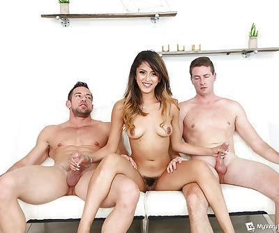 Latina amateur Sophia Leone taking big dicks in MMF threesome sex action - part 2