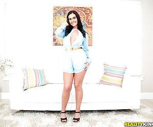 Busty brunette babe Brittany Shae finger fucking spread vagina